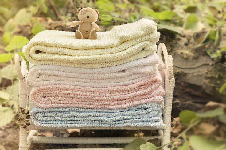 Junior Joy ® - 100% Cotton Cotton Cellular Blankets