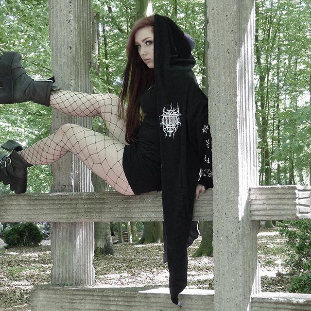 "CRMC X Vivid Black Artistry X View from the Coffin ""TEM.ple O.mnium H.ominum P.ads AB.ba"" Robe Available at www.crmcclothing.co | WE SHIP WORLDWIDE Model - Melina Malicious #burningchurch #tattooist #alternative #blackmetal #fashionstatement #stunning #lit #leggings #womenswear #blackwear #satanswaitin #cute #instacute #beautiful #dailyfashion #styles #style #wearblack #churchburning #darkwear #need #blackwear #want #altfashion #niche #fashionista #iloveblack"