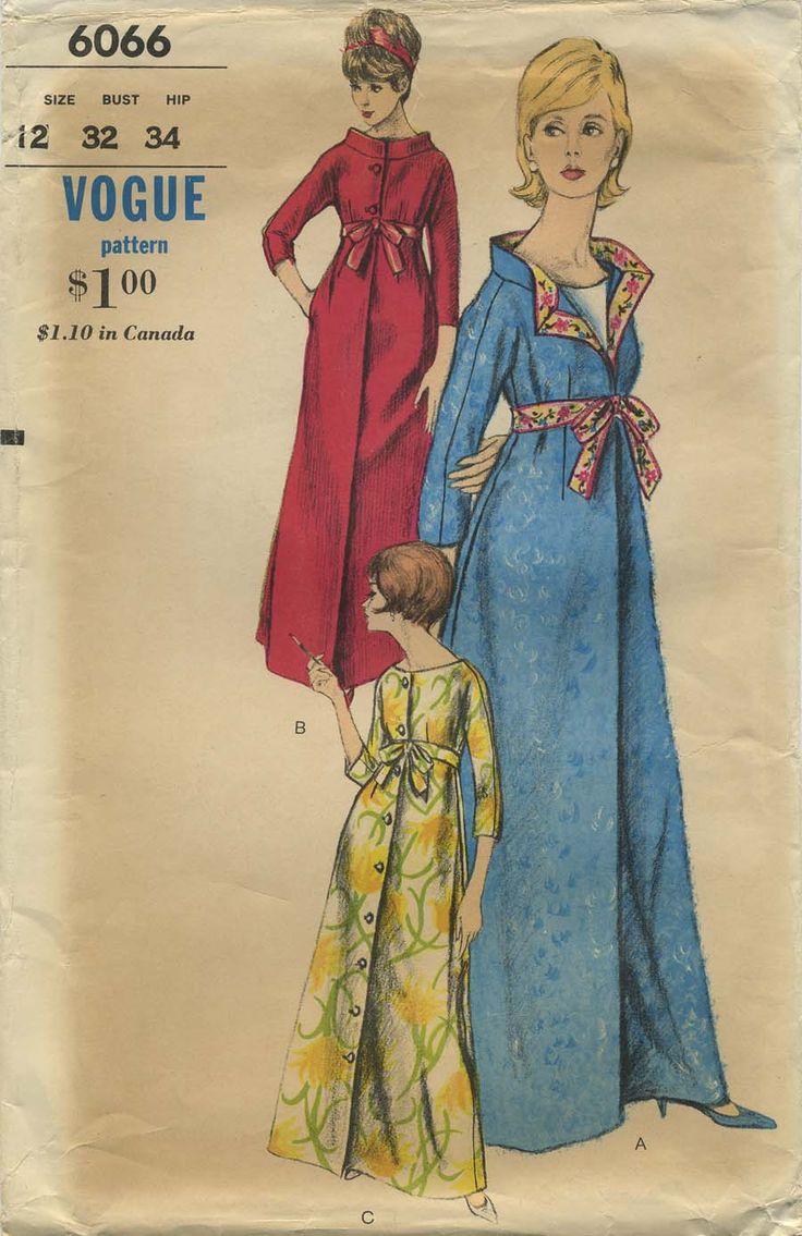 Vintage Sewing Pattern | Robe | Vogue 6066 | Year 1963 | Bust 32 | Waist 25 | Hip 34