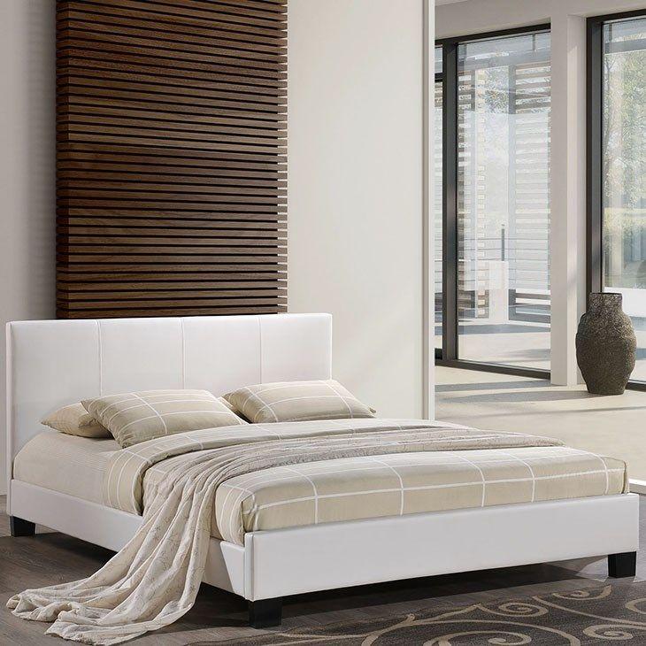 Alex Full Vinyl Bed in White
