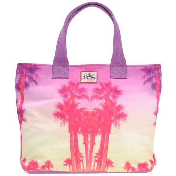 Superdry Handbag ($44) ❤ liked on Polyvore featuring bags, handbags, purple, pink handbags, multi color handbag, hand bags, multi colored handbags and purple handbags