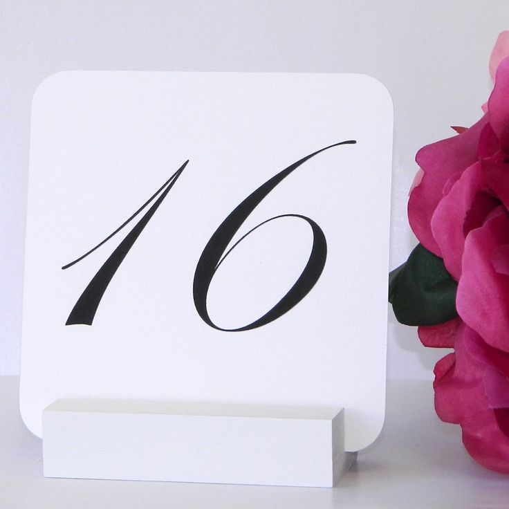 White Table Number Holder