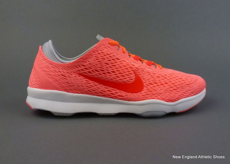 Nike women's Zoom Fit training shoes size 8.5 Lava Glow Bright Crimson Grey #Nike #RunningCrossTraining