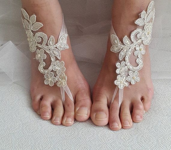 Hey, I found this really awesome Etsy listing at https://www.etsy.com/listing/454157414/beaded-champagne-lace-wedding-sandals