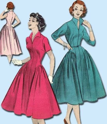 1950s Gorgeous Teen Party Dress Pattern Original Butterick Design Size 10 | eBay
