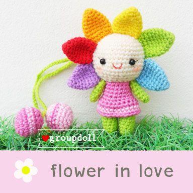 ตุ๊กตาถัก ดอกไม้ - ตุ๊กตาถักไหมพรม ตุ๊กตาถักไหมพรมคน ตุ๊กตาถักไหมพรมแต่งงาน ตุ๊กตาถักไหมพรมรับปริญญา น่ารักสวยเก๋ : Inspired by LnwShop.com