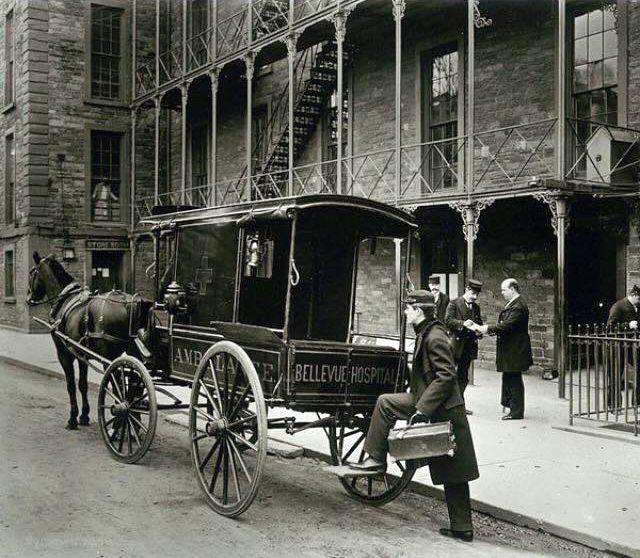 Bellevue Hospital ambulance circa 1920