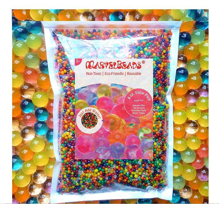 Amazon.com: marvelbeads perlas de agua mezcla arcoiris, 8oz (20.000cuentas) para Orbeez Spa Refill, juguetes sensoriales y decoración: Toys & Games