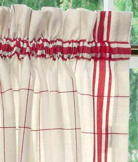 COZY HOME CHRONICLES: Red Check Kitchen Curtains