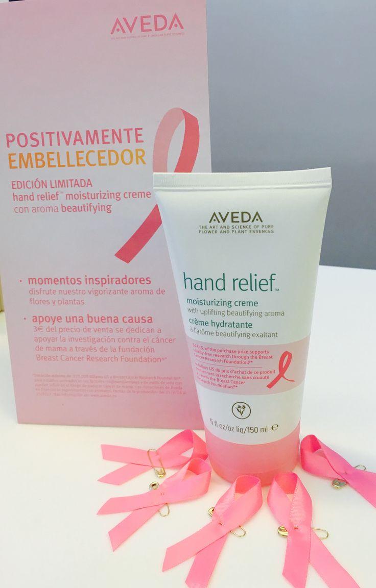 Nuestro producto estrella de Aveda en la campaña de concienciación de Cancer de mama. Juntos podemos!