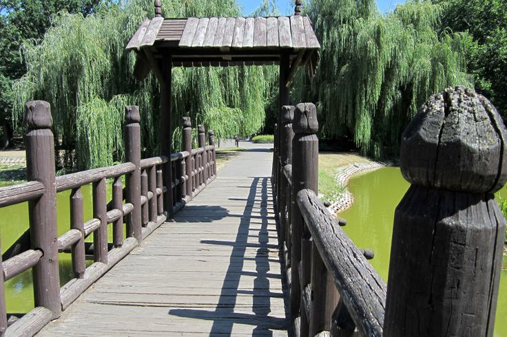wooden bridge in the Békás Lake(ex)