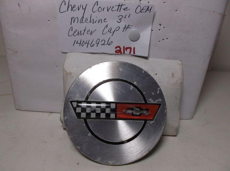 Chevrolet Corvette wheel center cap machined 14046926 hub centercap cover 2171 #Chevrolet