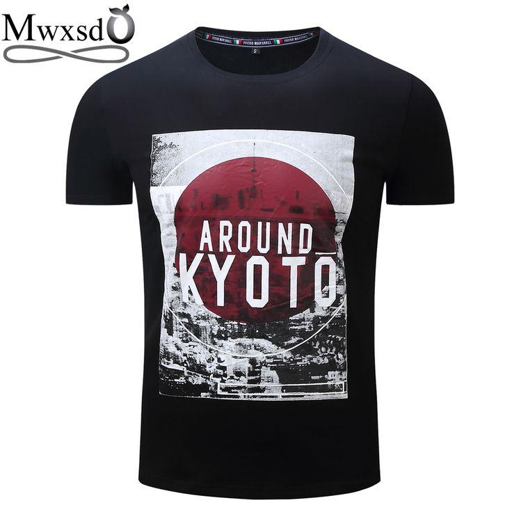 Mwxsd brand Men's printed cotton T Shirt men fashionl O neck T-shirts male summer top social tees streetwear European size  #Affiliate