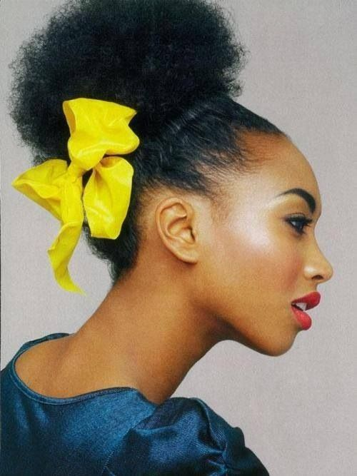 Afro Puff Natural Beauty Pinterest Afro Bows And