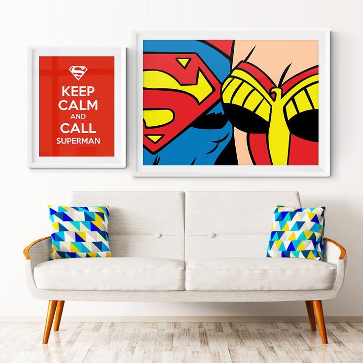 Superman and Wonder Woman Customizable Vector Illustration.