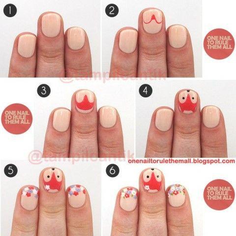 WOLF nail art