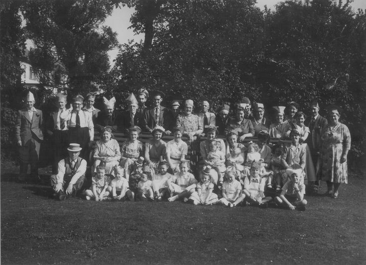Adults Coronation Party Gladstone Lawn 1953.