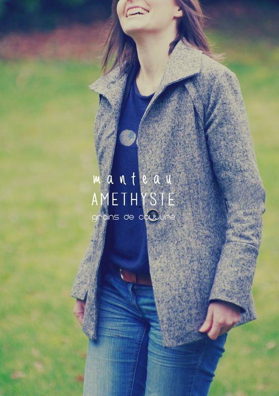Ivanne.S | Ivanne S - patron de couture, conseils tuto manteau AMETHYSTE, Grains de Couture