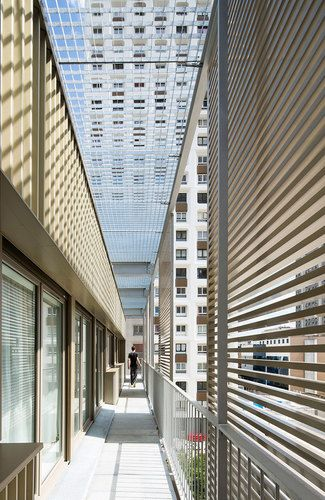 Atelier Du Pont — Rehabilitation of the shell of a social housing building