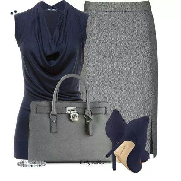 Grey with blue... Clean lines