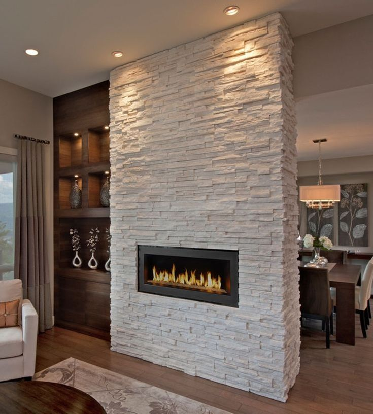 Ledger stone fireplace and Stone fireplace designs