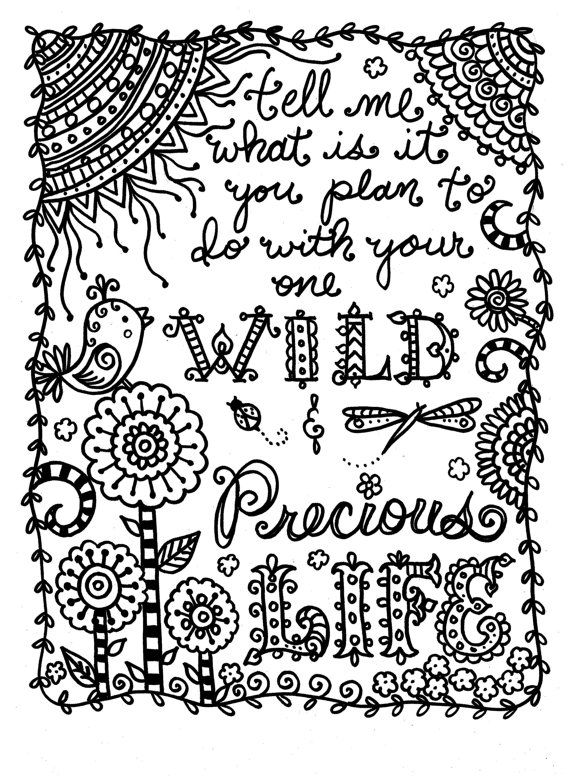 87 Best Quote Coloring Images On Pinterest