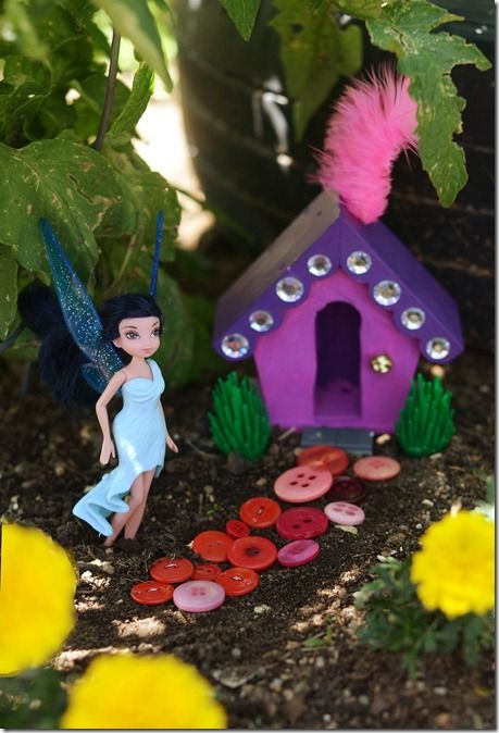 """Making a """"fairy home"""" in your garden - great idea for kids."""
