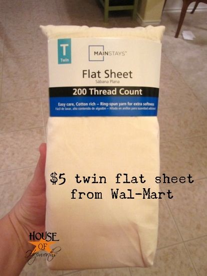 sew a curtain lining using a twin bed flat-sheet - cheap and easy alternative than purchasing yards of fabric