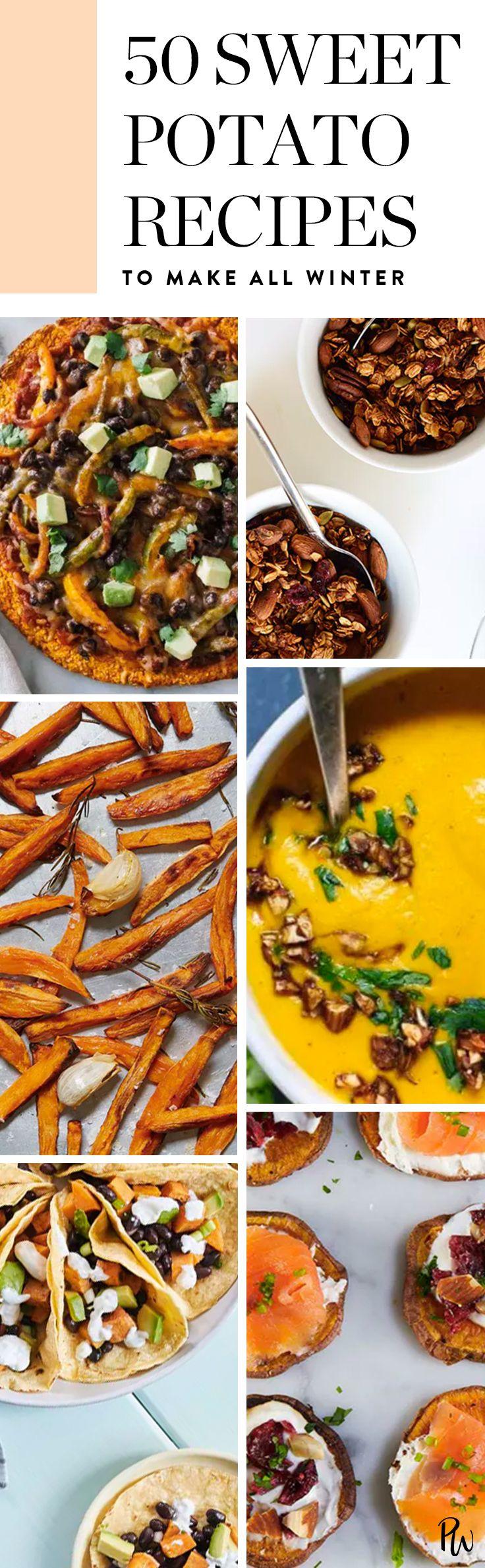 50 Sweet Potato Recipes to Make All Winter Long #dinnerideas #healthyrecipes #healthydinners #dinnerideas #sweetpotatorecipes #easyrecipes #winter #winterrecipes