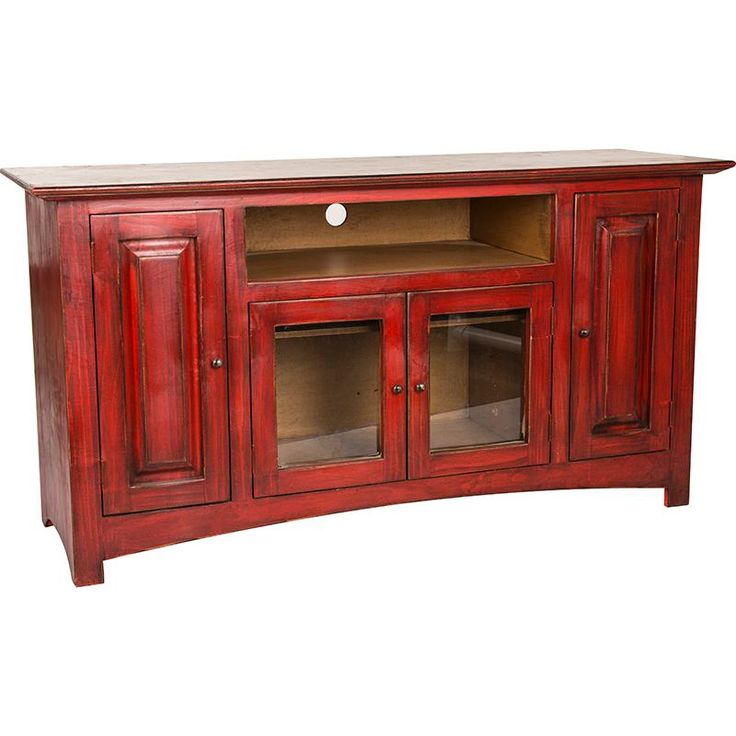 LMT Rustic Red Color Wash TV Stand