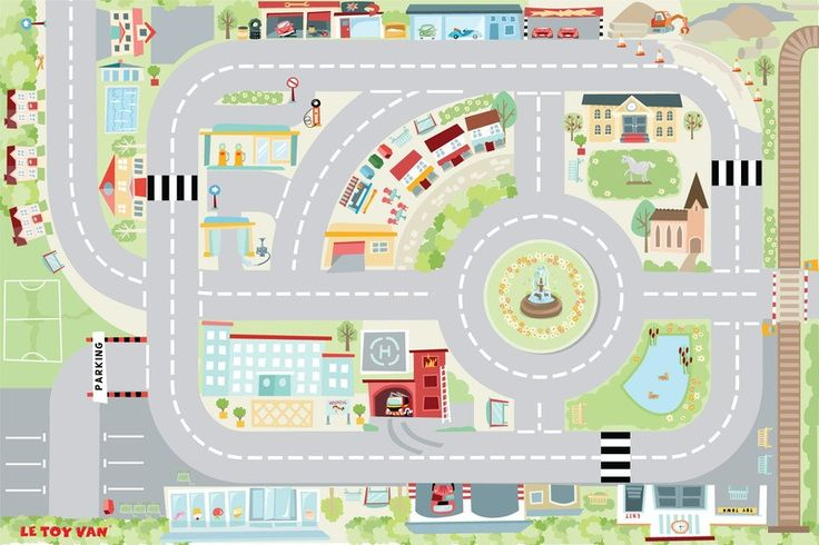 Le Toy Van - Play Mat My First Town because we are new to car play and would love a town of our own to drive around #entropywishlist #pintowin