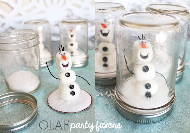 "Olaf Snow Globe | Community Post: 14 Must-Have Ideas For Throwing Your Own ""Frozen"" Themed Party"