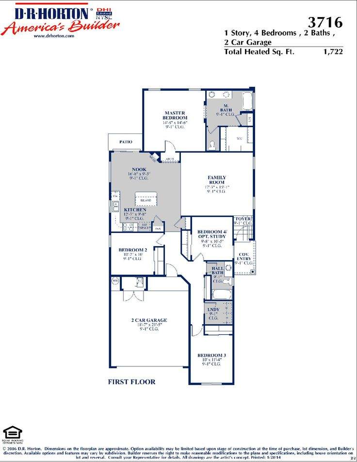 DR Horton Sandoval Floor Plan Via Www.nmhometeam.com
