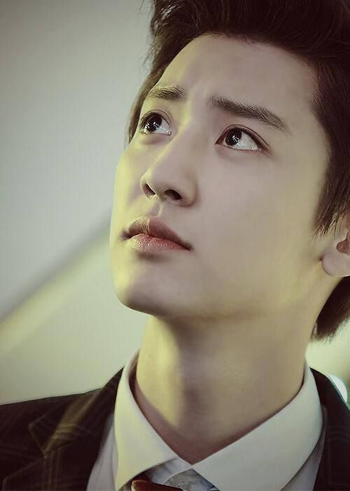 I was walking to the kitchen. I swapped to the next photo (this one) and tripped. I blamed Chanyeol's sexiness.