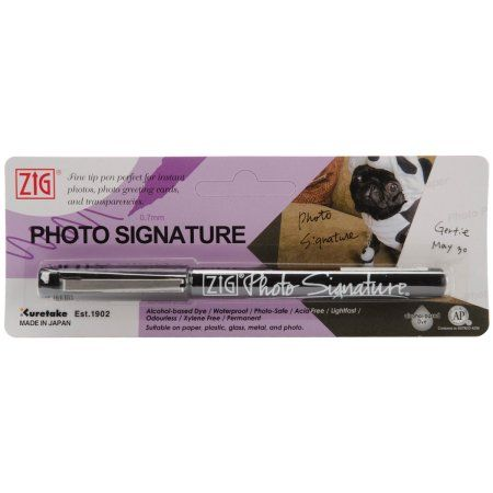 Zig 0.7mm Photo Signature Marker, Carded, Black Multi-Colored