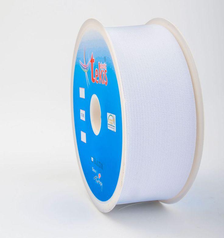 50 mm Elastic Tape / 10 m / White