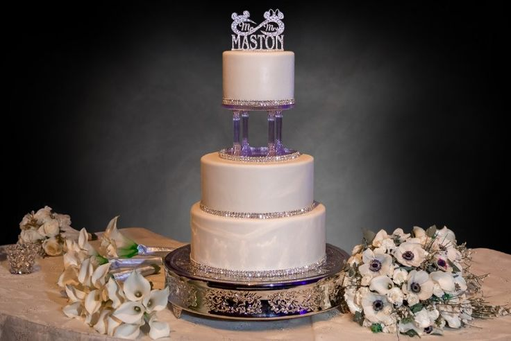 Fairytale Lake Buena Vista Wedding at Disney's Grand Floridian Resort and Spa, FL  We're in love with this Disney-themed cake for the newlyweds!   Photographer:  Our Day Wedding Photography