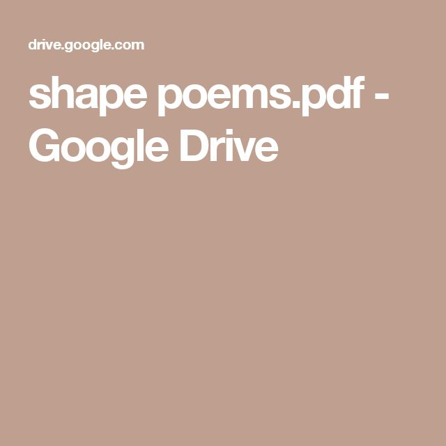 shape poems.pdf - Google Drive