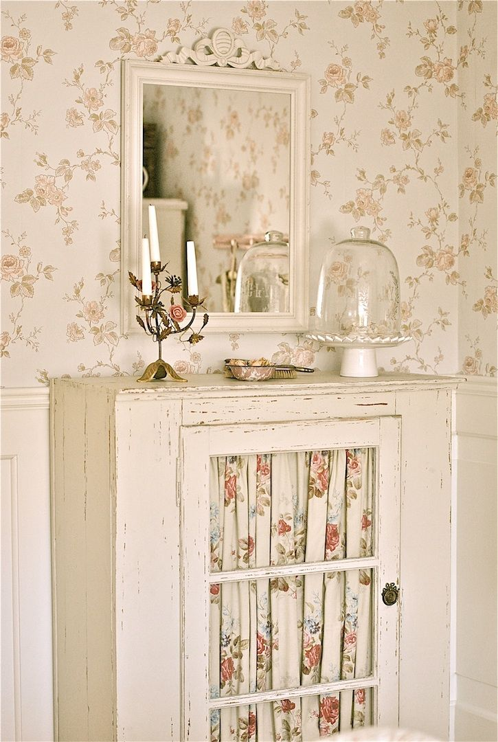 Linen Cabinet Whitewashed chippy shabby chic french country rustic swedish decor Idea