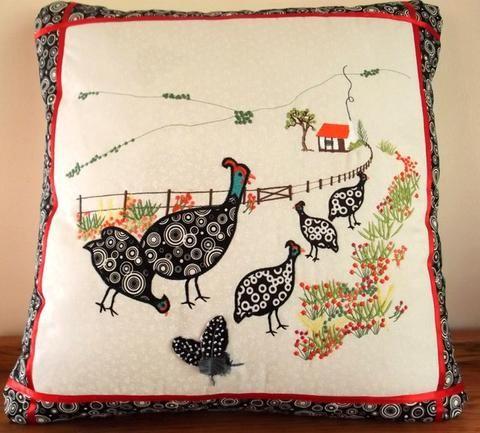 Guinea Fowl Cushion