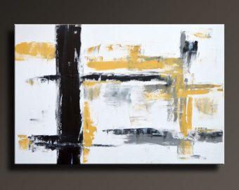 Decorazione della parete di 48 x 24 del giallo grigio bianco