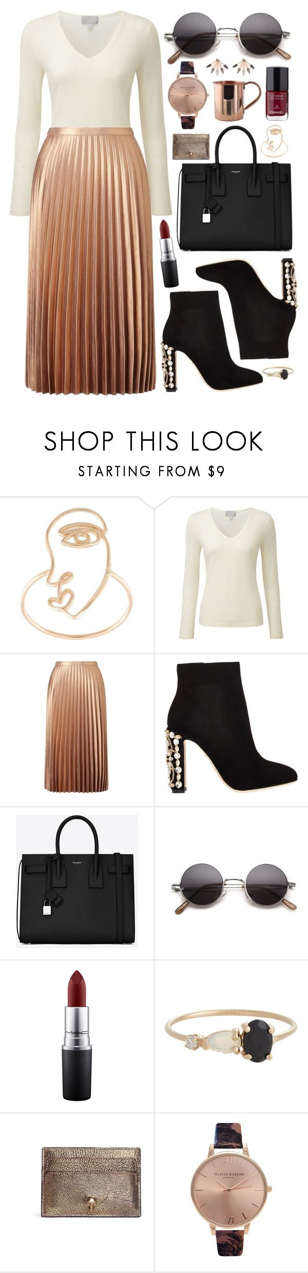 """""""Untitled #626"""" by clary94 ❤ liked on Polyvore featuring Sarah & Sebastian, Pure Collection, Miss Selfridge, Dolce&Gabbana, Yves Saint Laurent, MAC Cosmetics, Loren Stewart, Chanel, Alexander McQueen and Topshop"""