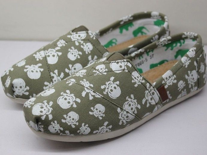 Cheap Toms Women Skeleton green Bottom Outlet Sale