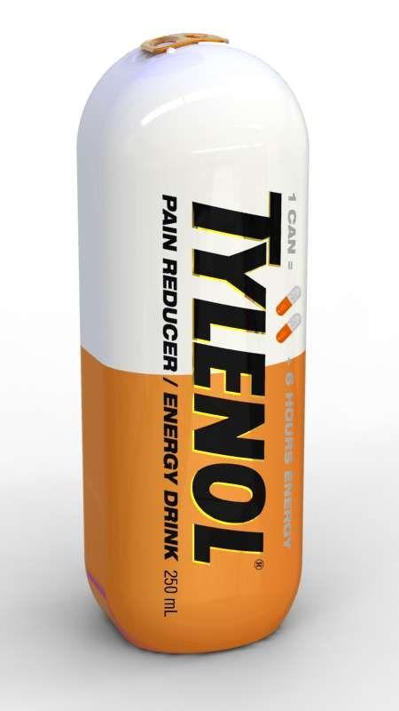 Tylenol Energy Drink Packaging