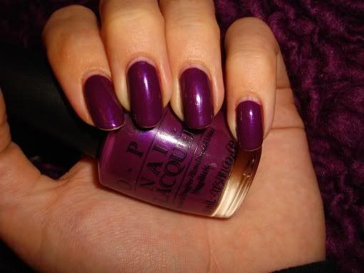 opi winter 2014 | In de winter en herfst draag ik heel graag paarstinten op mijn nagels ...