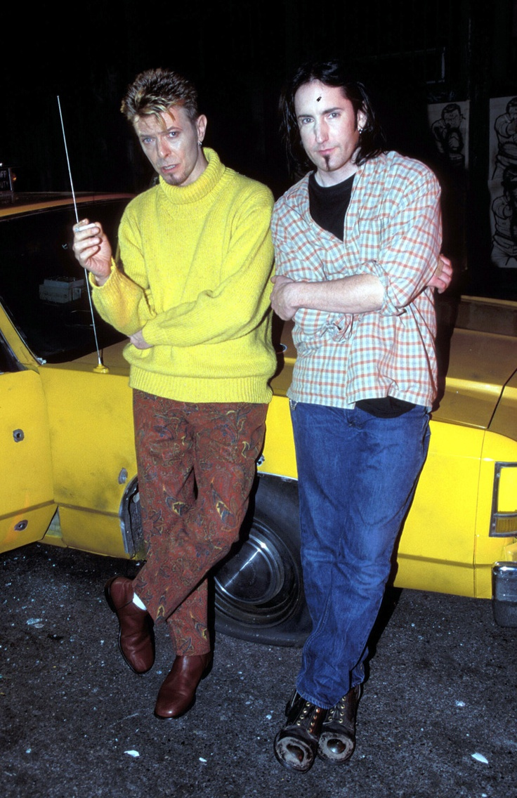 David Bowie & Trent Reznor (Nine Inch Nails)  we need more of everything in this photo  in the world today.