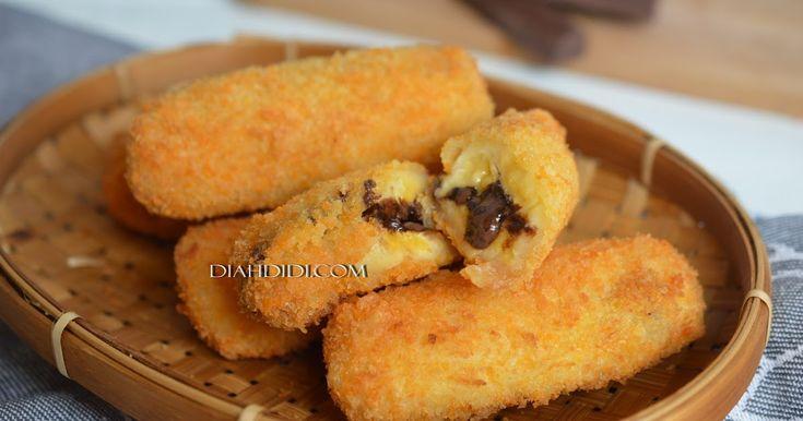 Diah Didi's Kitchen: PIsang Goreng Panir Isi Coklat Leleh