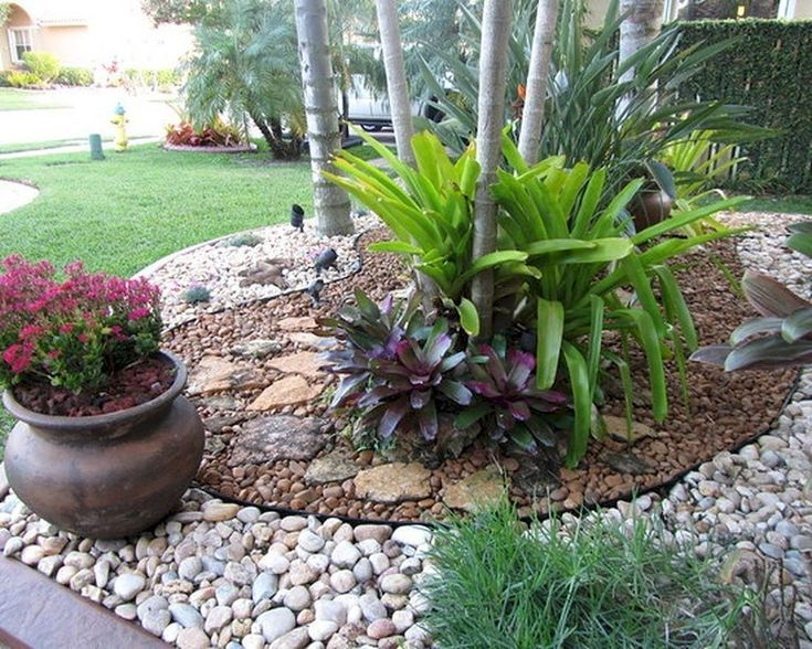 using pea gravel in flower beds Google Search Front