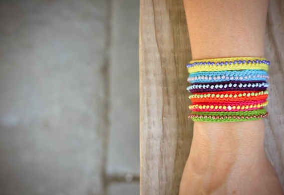 "The Beaded | 15 ""Summer Camp Style"" Friendship Bracelets You Can Make Right Now"