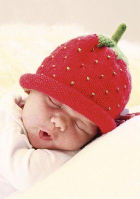 Free Strawberry hat pattern!!!!! Den sødeste hue